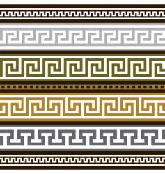 set of greek geometric borders vector image