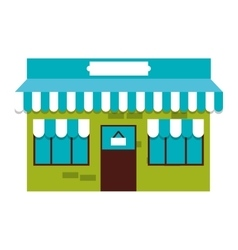 building store market isolated vector image