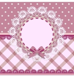 card for little girls vector image vector image