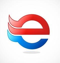 e internet logo vector image