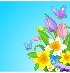 Easter bouquet vector