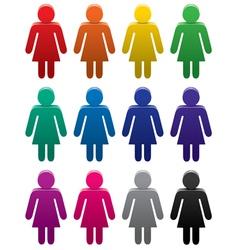 female symbols vector image
