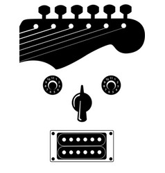 funky guitar face music background vector image vector image