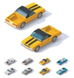 isometric utility coupe car vector image