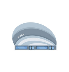 modern light building of the arena vector image vector image