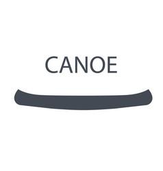 monochrome canoe isolated on vector image