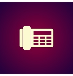 phone icon Flat design style vector image