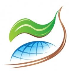 save earth logo vector image vector image