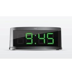 Black digital alarm clock vector image