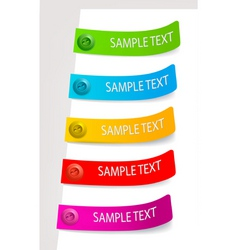 color tags vector image vector image