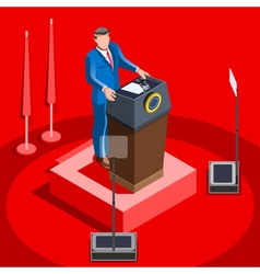 Election Infographic Lecture Hall Isometric People vector image vector image