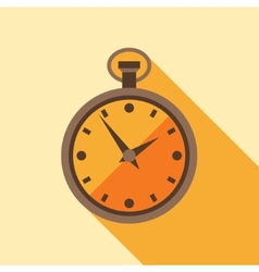 Icon retro watch in flat design style vector image