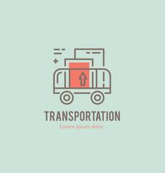 line cargo cart logo vector image vector image
