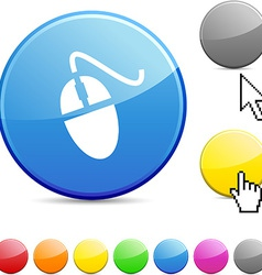 Mouse glossy button vector image vector image