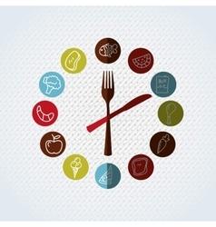 nutritive food design vector image