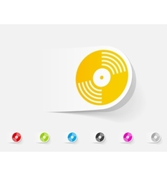 realistic design element vinyl record vector image vector image