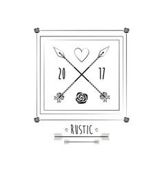 rustic card date invitation ornate image vector image