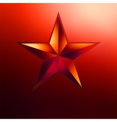 A Red star on gold EPS 8 vector