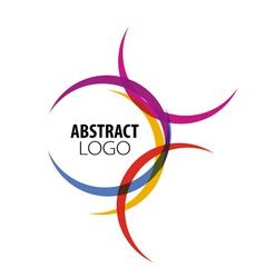 Abstract logo colored circles vector