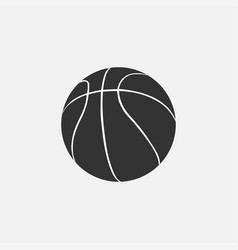 basketball icon isolated on white background vector image