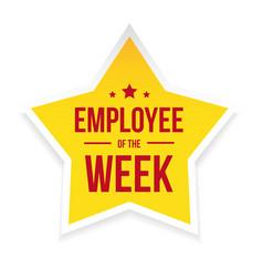 Best employee week award badge vector
