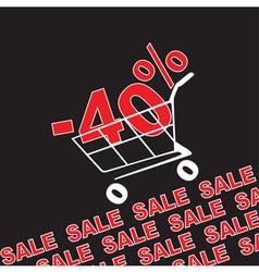 Big sale 40 percentage discount vector