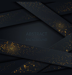 black paper abstract papercut decoration with vector image
