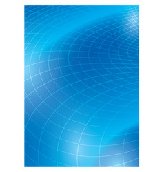 Blue background with curved grid - template vector