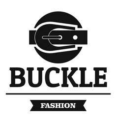buckle garment logo simple black style vector image