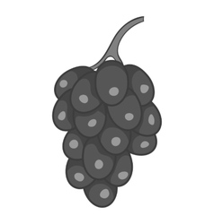 Bunch of grapes icon black monochrome style vector