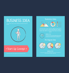 business idea startup concept vector image