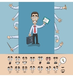 Business man construction pack vector