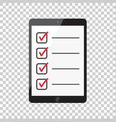 Businessman checklist with tablet check list icon vector