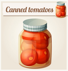 canned tomatoes detailed icon vector image