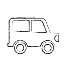 car drawing isolated icon vector image