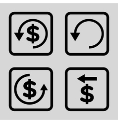 Chargeback Flat Squared Icon vector