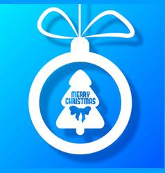 christmas ball postcard vector image