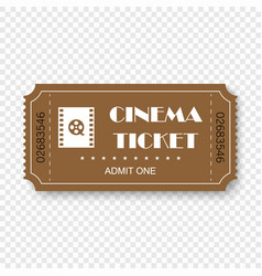 cinema ticket vector image