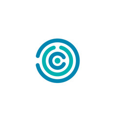 circle theme technology company sign symbol vector image
