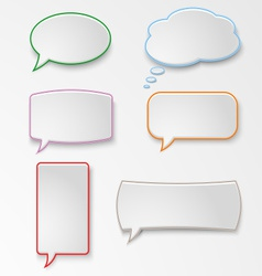 Colorful set speech bubbles vector image