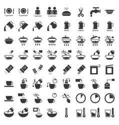 Cooking instruction icon material for use vector