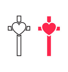 Crucifix cross vector
