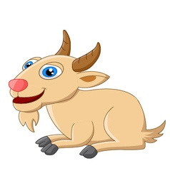 Cute goat cartoon posing vector