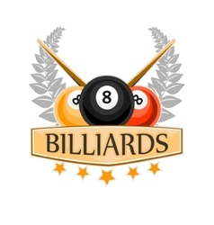 Design Billiards pool and snooker sport vector image