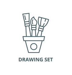 drawing set line icon linear concept vector image