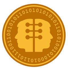 Dual head interface digital coin vector