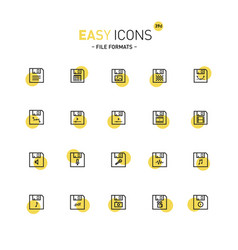 Easy icons 39d file formats vector
