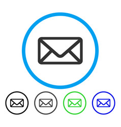 envelope rounded icon vector image