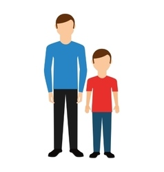 father with son isolated icon vector image