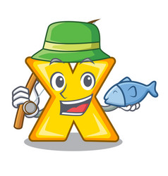 Fishing cartoon multiply sign for calculate math vector